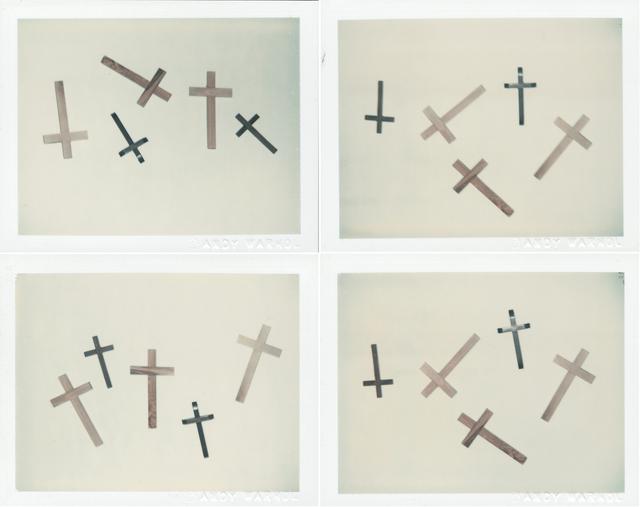 Andy Warhol, 'Crosses', 1982, Photography, Four unique polaroid prints, Christie's Warhol Sale