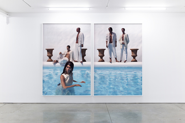 Martine Gutierrez, 'Body En Thrall, p122-123 from Indigenous Woman', 2018 , Print, C-print mounted on Sintra (diptych), RYAN LEE