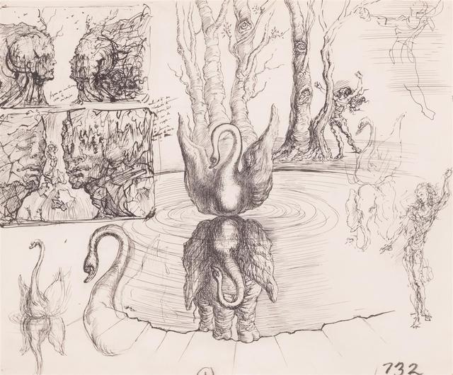 Salvador Dalí, 'Composition Au Cygne et a L'Elephant', ca. 1947, Omer Tiroche Gallery