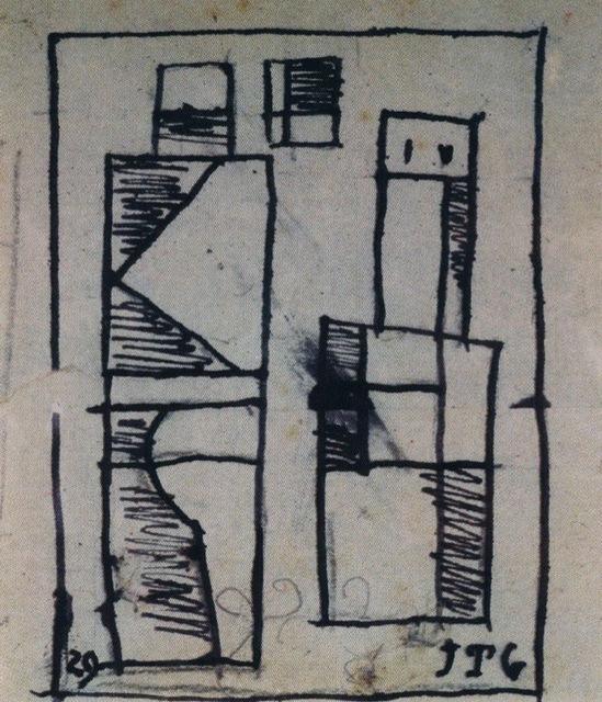 , 'Dos figuras abstractas,' 1929, Galería de las Misiones