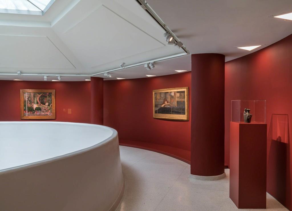 Installation View: Mystical Symbolism: The Salon de la Rose+Croix in Paris,1892–1897 Solomon R. Guggenheim Museum, New York, June 30–October 4, 2017.  Photo: David Heald © Solomon R. Guggenheim Foundation, 2017