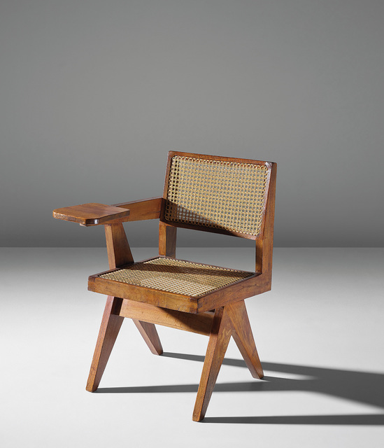 Pierre Jeanneret, 'Writing chair, model no. PJ-SI-26-E, designed for the science department and administrative offices, Punjab University, Chandigarh', circa 1960, Phillips