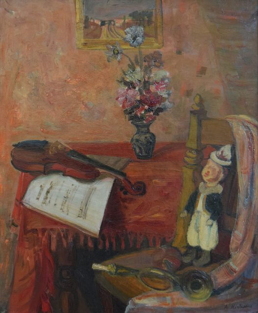Abraham Mintchine, 'Still Life and Violin', Stern Pissarro