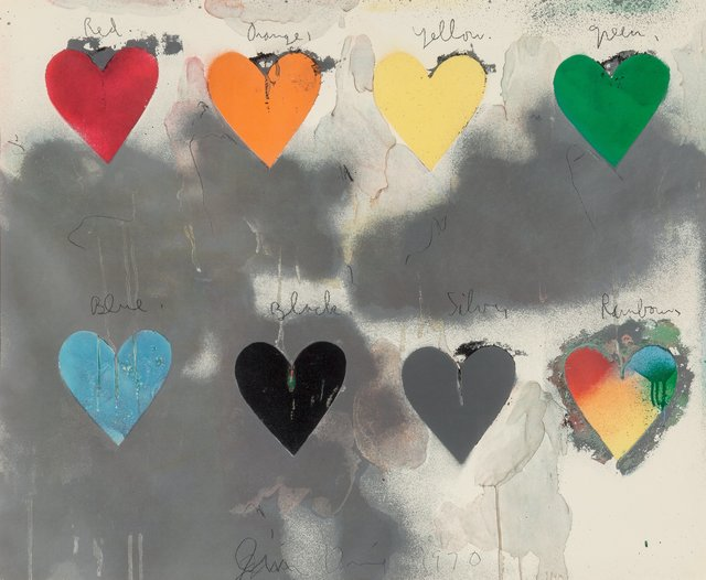 Jim Dine, 'Hearts', 1970, Print, Screenprint in colors, Heritage Auctions