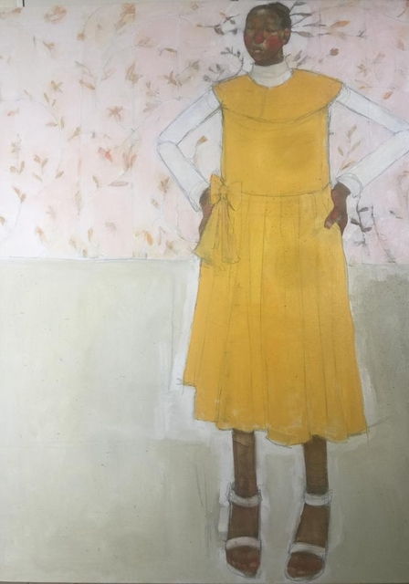 , 'Girl in Yellow Dress,' 2019, One Off Contemporary Art Gallery