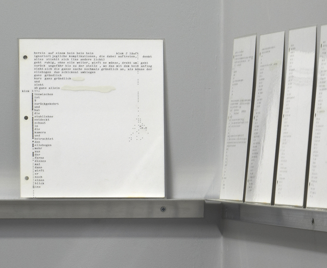 , 'Horizontal Composition on a Vertical Documentation,' 1997, Hidde Van Seggelen