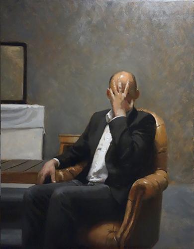 , 'Hombre con mano en la cara,' 2015, Galeria Contrast