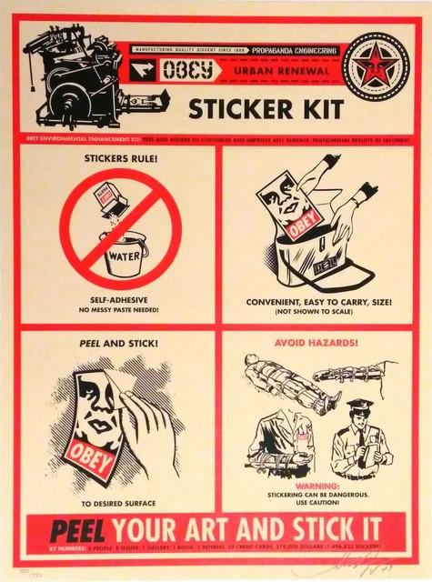 Shepard Fairey, 'Sticker Kit Print', 2009, DIGARD AUCTION