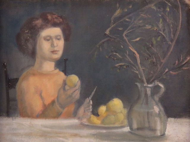 Alvin Ross, 'Girl Holding Pear', 1955, Bakker Gallery