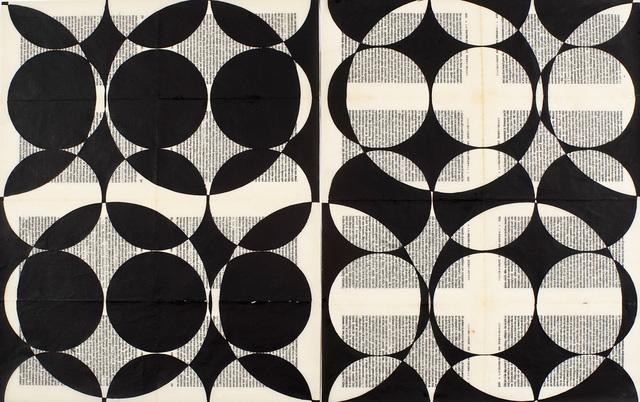 Oriane Stender, 'Untitled Book Page (Circles)', 2016, Rick Wester Fine Art