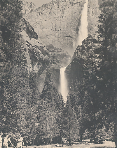 , 'Upper and Lower Yosemite Falls, Summer,' Circa 1939, Scott Nichols Gallery