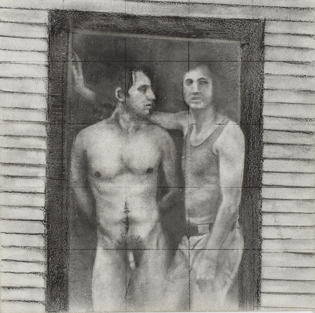 Rick Sindt, 'Daniel #1', 2017, Drawing, Collage or other Work on Paper, Graphite and graphite powder on panel, Gallery Victor Armendariz