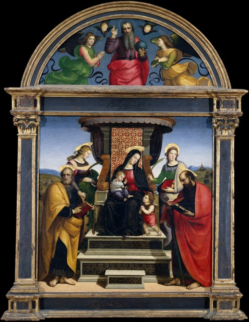 Raphael, 'Madonna and Child Enthroned with Saints', ca. 1504, The Metropolitan Museum of Art