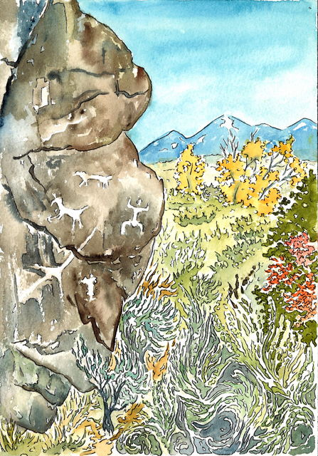, 'Petroglyps and Taos Mountain,' 2015, Ro2 Art