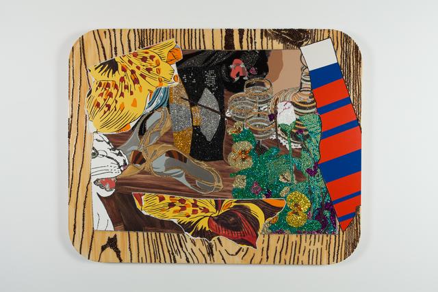 Mickalene Thomas, 'Still Life with black and white panther', 2009, Galerie Nathalie Obadia
