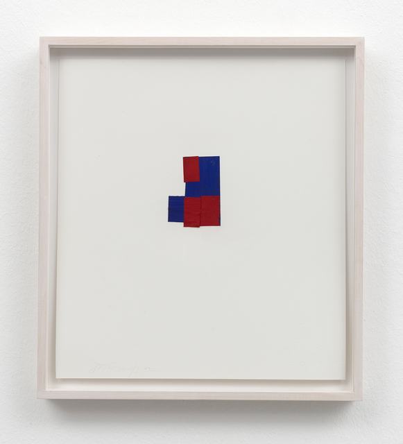 , 'folded drawing (blue and red),' 2002, Galerie Christian Lethert
