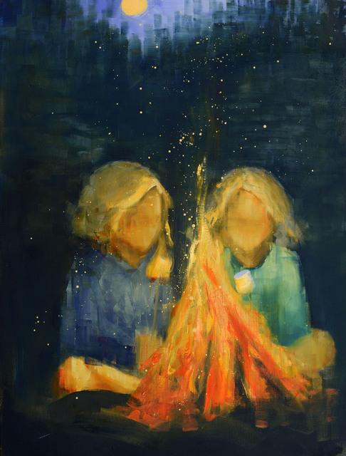 , 'Marshmallow Yellow Moon,' 2018, Rice Polak Gallery
