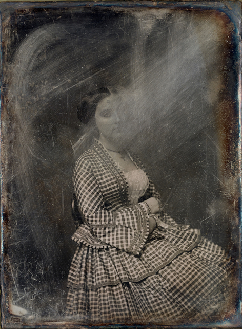 Michael Huey, 'Unknown Woman (no. 1), Based on a damaged 1850s/60s Daguerreotype by Mathew Brady', 2019, Galerie Reinthaler