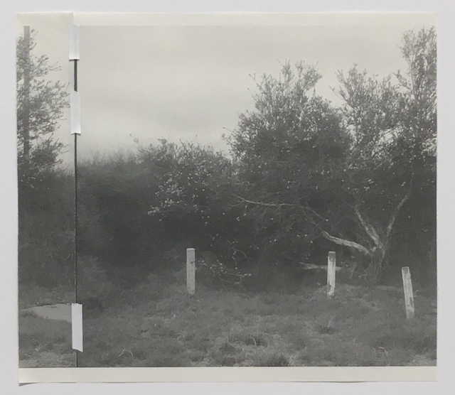 Odette England, 'Two Types of Banks [repair]', 2019, Photography, Hand-torn archival prints on newsprint, from expired 6x7 film negatives, hinged with linen archival tape, KLOMPCHING GALLERY