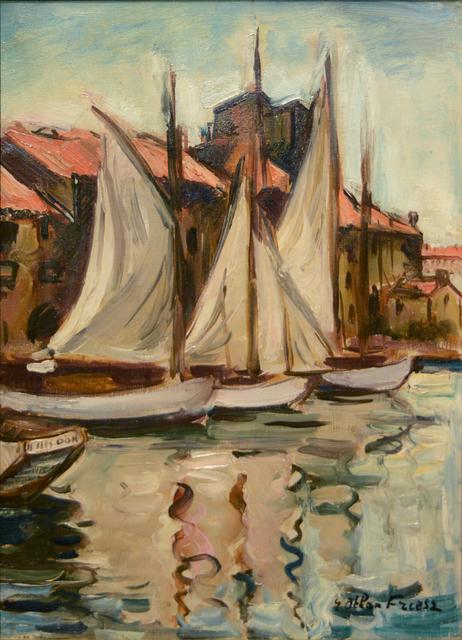, 'Sailboats at the Quai du Parti, Toulon, 1926,' ca. 1926, Guarisco Gallery