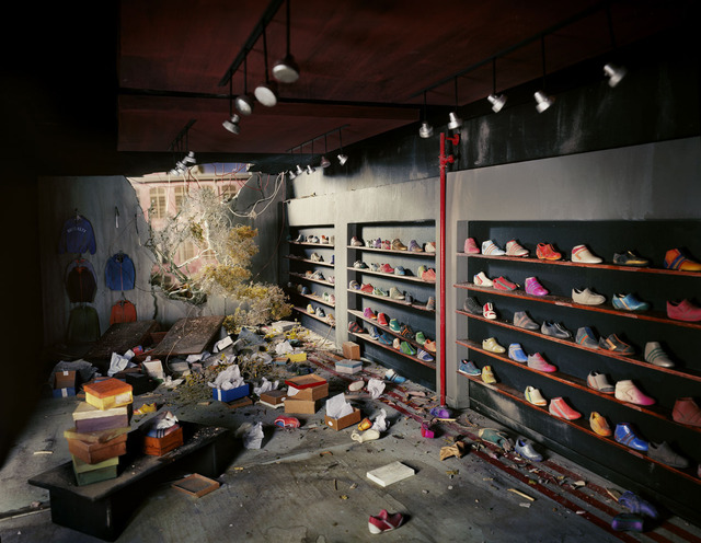Lori Nix and Kathleen Gerber, 'Shoe Store', 2013, Photography, Archival pigment print, G. Gibson Gallery