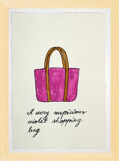 , 'Suspicious Bags: Violet Shopping Bag,' 2018, Temnikova & Kasela