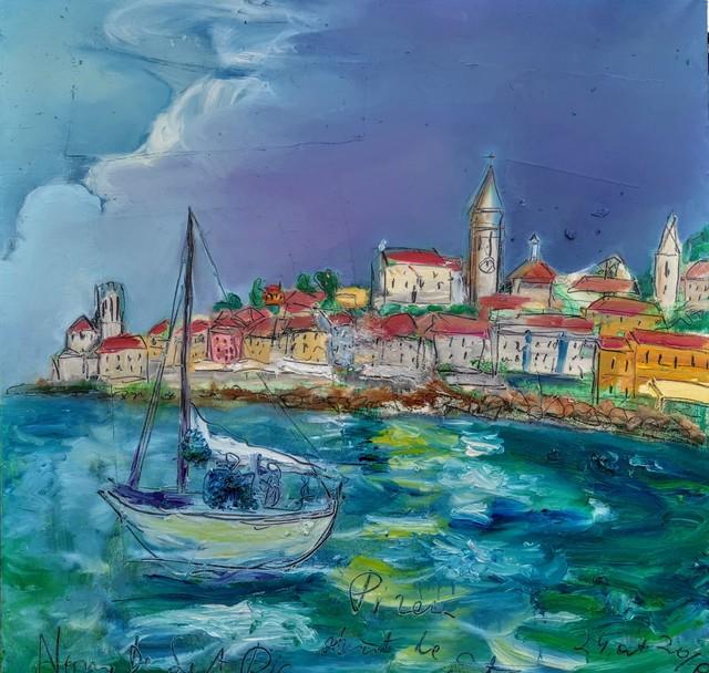 , 'Water series summer 2019 - plein air in situ paintings, Piran, stormy sky,' 2019, Noravision Gallery