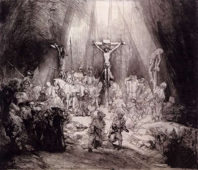 Rembrandt van Rijn, 'Three Crosses (First State)', 1653, Print, Drypoint and etching, Rijksmuseum