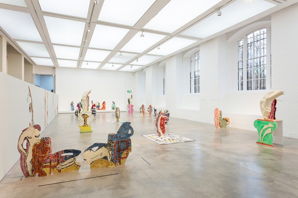 Installation view of Betty Woodman: Theatre of the Domestic