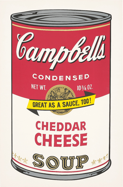 Andy Warhol, 'Cheddar Cheese, from Campbell's Soup II', 1969, Print, Screenprint in colours, on wove paper, with full margins, Phillips