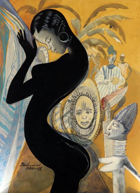 Ben Enwonwu MBE, 'Negritude (1985/86)', 1985, TAFETA