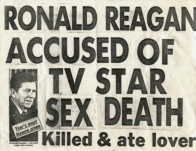 , 'Ronald Reagan Accused of TV Star Sex Death,' 1980, ClampArt