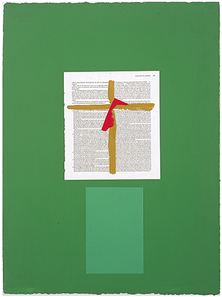 , 'Art Bulletin Collage with Cross,' 1968, Waddington Custot