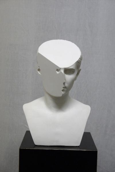 , 'Traccia Ⅴ, modified plaster bust of Lucio Cesare,' 2014, OTTO ZOO