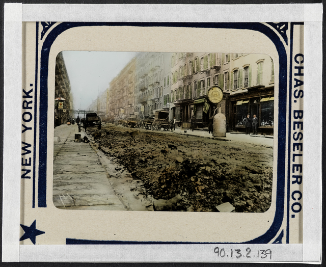 Jacob A. Riis, 'Tammany street cleaning East Fifth Street for the same spot under Waring's broom', ca. 1895, Museum of the City of New York