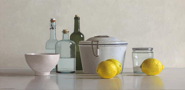 Willem de Bont, '3 lemons, baking pan, bowl, jar and 3 bottles', 2019, Smelik & Stokking Galleries