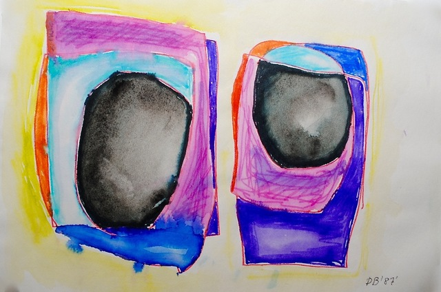 Dusti Bongé, 'Untitled (Black, Pink, Purple and Blue Rectangles)', 1987, Amanda Winstead Fine Art