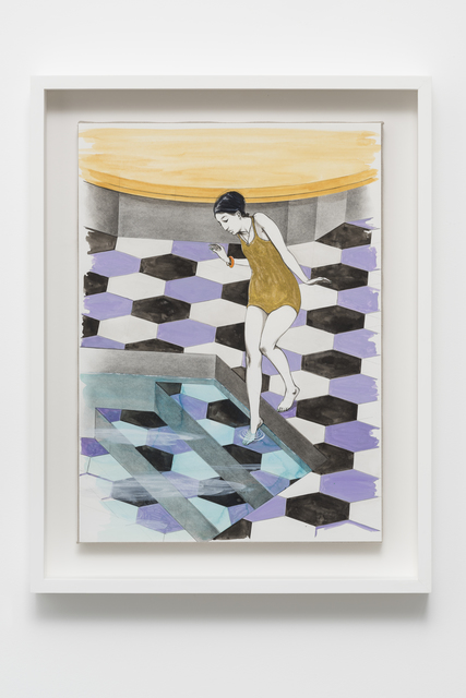 , 'Untitled (Girl entering pool, Onomatopoeia zoo),' 2016, Pilar Corrias Gallery