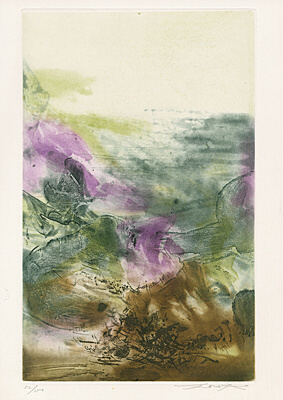 Zao Wou-Ki 趙無極, 'Untitled (Plate 7 from The Pisan Cantos)', 1972, Upsilon Gallery