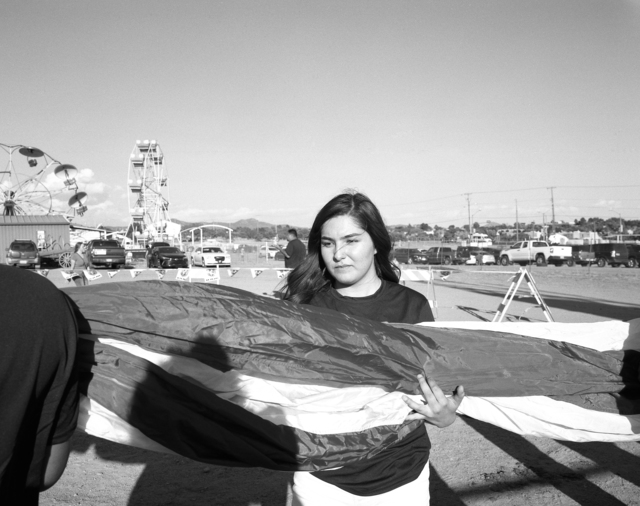 Patrice Aphrodite Helmar, 'Girl holding flag at New Mexico Rodeo', 2016, Photography, C-print, Gaa Gallery