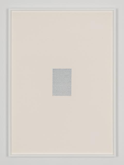 , 'Eigenschriften, Pagina S-17,' 1972, Galerija Gregor Podnar