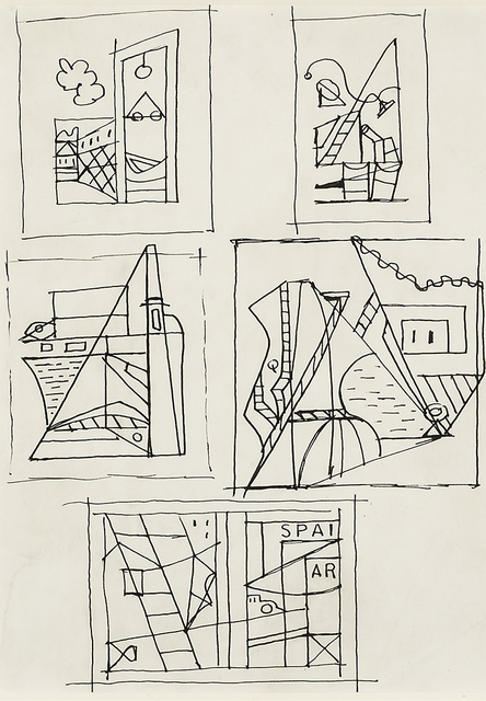 ", 'Drawings for ""Spar"" and ""Eye Level"",' 1932, Hirschl & Adler Galleries"