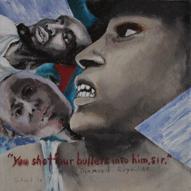 ", '""You shot four bullets into him, sir."",' 2016, Carter Burden Gallery"