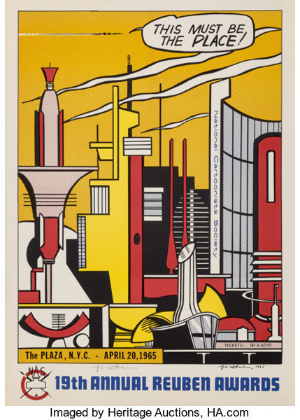 Roy Lichtenstein, 'This Must Be the Place, for the Reuben Awards', 1965, Heritage Auctions