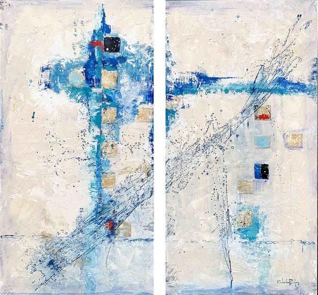 SR Rodrigues, 'Beleza I ', 2020, Painting, Different layers of paint and material are used on linen to create transparency, color depth and relief., AbrahamArt
