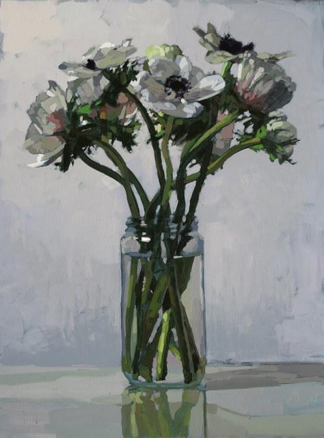Laurent Dauptain, 'Anémones blanches, fond blanc', 2017, Hugo Galerie