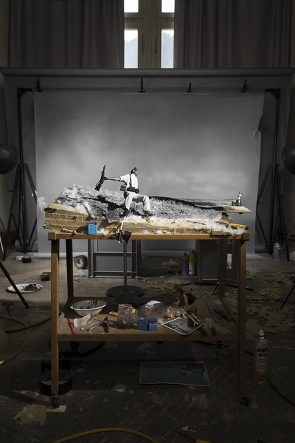 ", 'Making of ""Death of a Loyalist Militiaman, Córdoba Front, Spain"" (by Robert Capa, 1936),' 2016, Galleria del Cembalo"