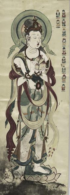 , 'Bodhisattva holding peaches,' 1958-1963, Seattle Art Museum