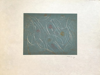 Untitled Mark Tobey Etching, Green