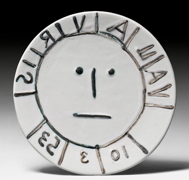 Pablo Picasso, 'Vallauris', 1953, Design/Decorative Art, Plate. Ceramic painted in green and brown. Decorated with oxidiced paraffin., Koller Auctions